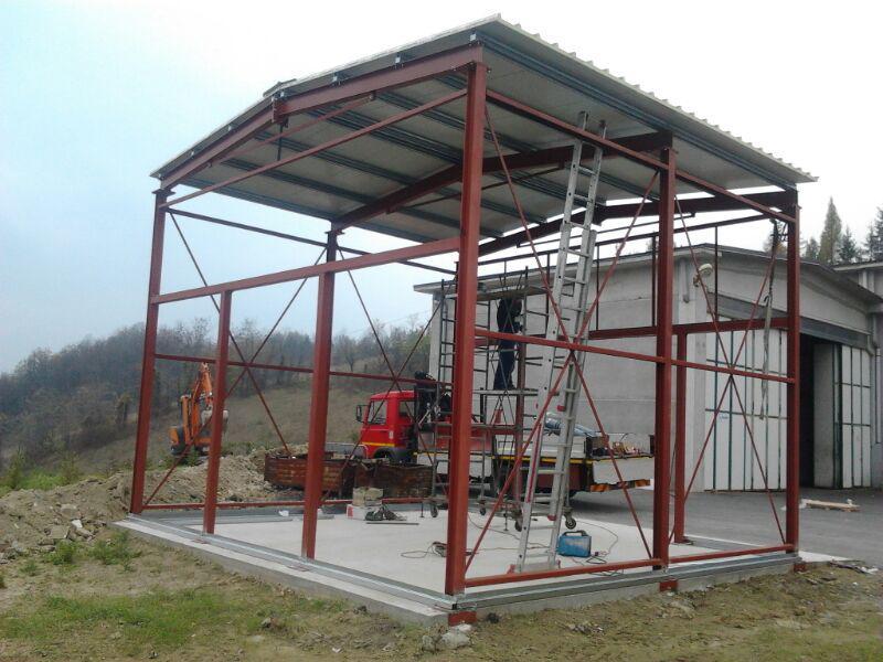 Struttura per capannone in ferro carpenteria metallica pesante secco s r l fabbro alba - Struttura in ferro per casa ...