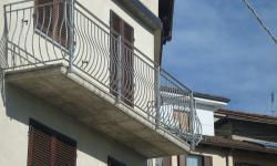 Ringhiera balconi zincata con bacchetta curva