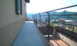 Ringhiera balcone in stile moderno