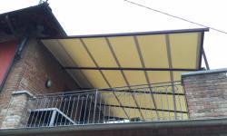 Tenda da sole con struttura in ferro