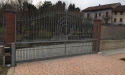 Cancello scorrevole zincato